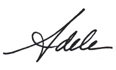 first name signature