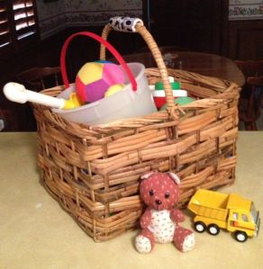 Grand's toy basket