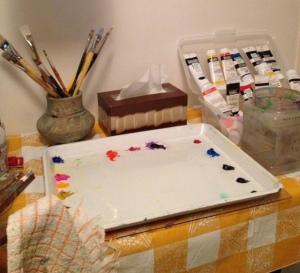 New table in studio 9-14-13