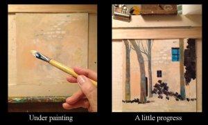 Painting progress-Blue Window