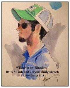 Tourist in Rhodes -a study sketch