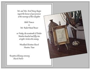 Invitation and table easel CR