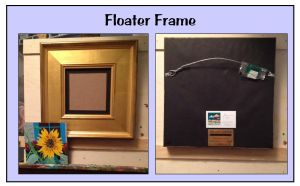 Floater frames-front and back graphic