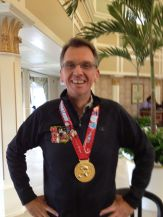 Keith's medal up close