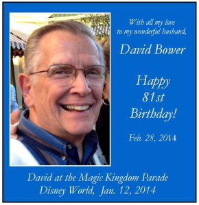 David's 81st birthday greeting for FB 2-28-14