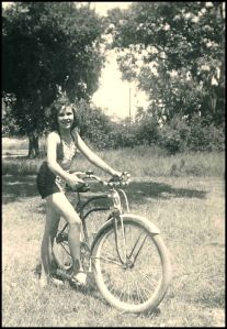 Adele, age 12 on Buddy's bike