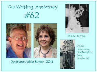 Anniversary #62 Oct. 17, 2014