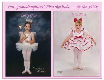 Emily's and Julia's first recitals...in the 1990s for FB