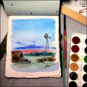 Blue Evening on draw. board 1