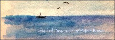 Detail of Seagull painting 7-20-15