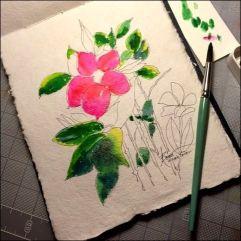 Lyndsay's Flower in progress