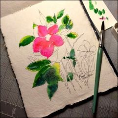 Lyndsay's Flower in progress