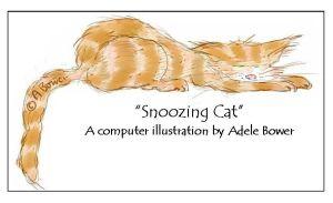Snoozing Cat 7-9-15