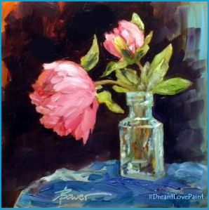 Peonies painting 8-29-16 for FBook