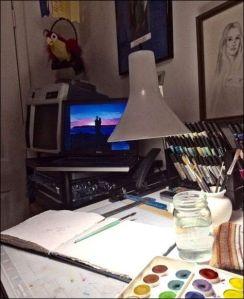 Watercolor corner 2